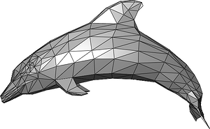 A Complicated 3d model of a dolphin
